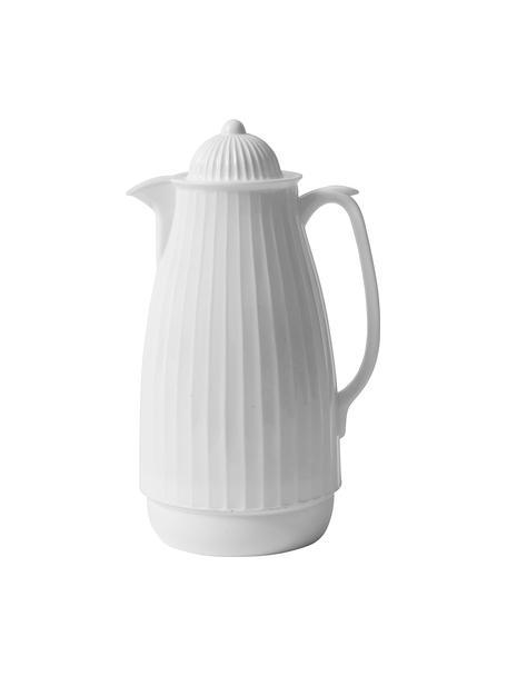 Isolierkanne Juggie, 1 L, Außen: Kunststoff, Innen: Glas, Weiß, 1 L
