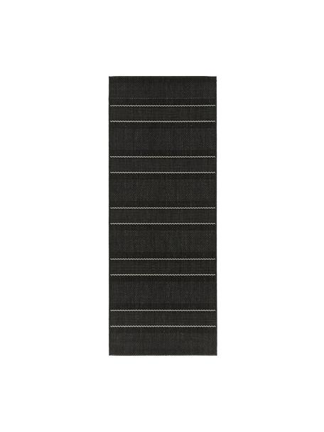 In- & Outdoor-Läufer Sunshine in Schwarz, 100% Polypropylen, Schwarz, Creme, 80 x 200 cm