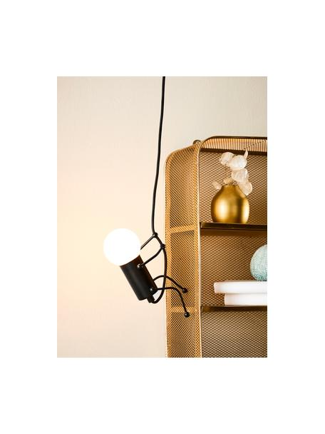 Lámpara de techo Gubbe, Figura: metal recubierto, Cable: cubierto en tela, Negro, An 8 x L 350 cm