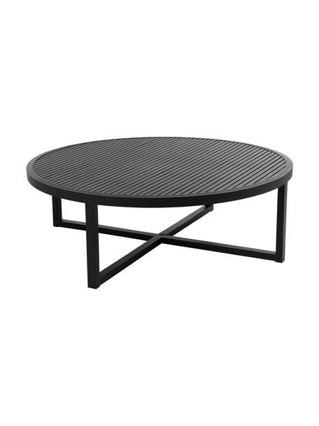 Ogrodowy stolik kawowy Vevi, Aluminium malowane proszkowo, Czarny, Ø 100 x W 40 cm