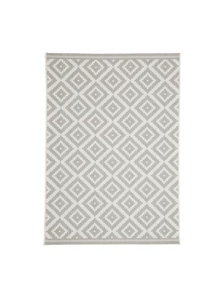 Alfombra de interior/exterior Miami, 86% polipropileno, 14% poliéster, Blanco crema, gris, An 80 x L 150 cm (Tamaño XS)