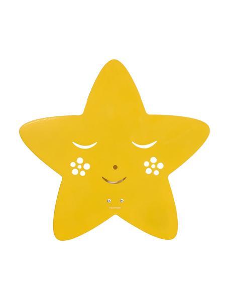 Wandleuchte Star, Metall, pulverbeschichtet, Gelb, 30 x 29 cm