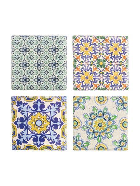 Set de salvamanteles Deruta, 4pzas., Cerámica, corcho, Multicolor, An 16 x F 16 cm