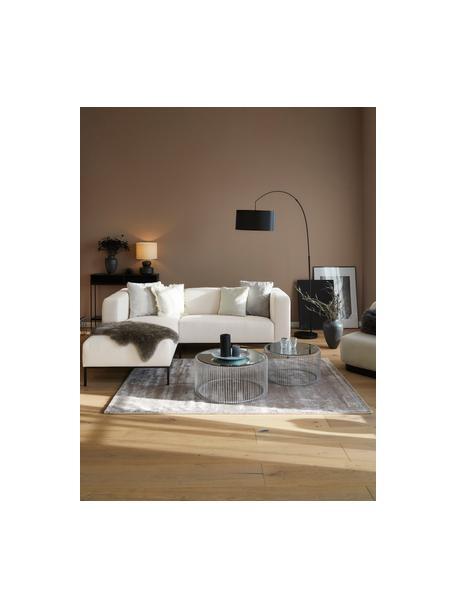 Sofa narożna z metalowymi nogami Carrie, Tapicerka: poliester 50 000 cykli w , Tapicerka: wyściółka z pianki na zaw, Nogi: metal lakierowany, Beżowy, S 222 x G 180 cm