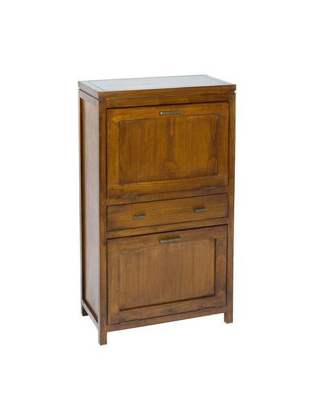 Zapatero de madera de acacia Lua, Madera de Mindi curtida, Marrón, An 57 x Al 100 cm