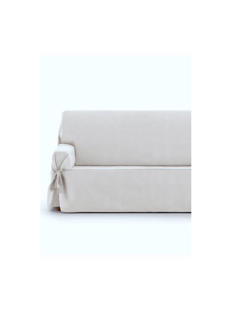 Copridivano Levante, 65% cotone, 35% poliestere, Color crema, Larg. 200 x Alt. 110 cm