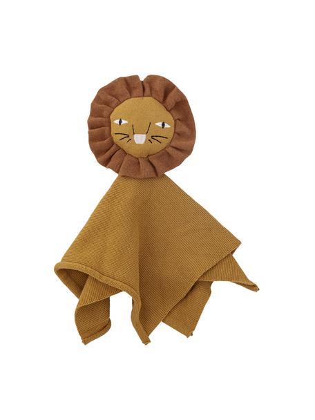 Katoenen knuffeldoek Elvin in bruin, Bekleding: 100% katoen, Bruin, 35 x 35 cm