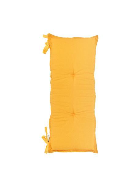 Cojín de banco Panama, 50%algodón, 45%poliéster, 5%otras fibras, Amarillo, An 48 x L 120 cm