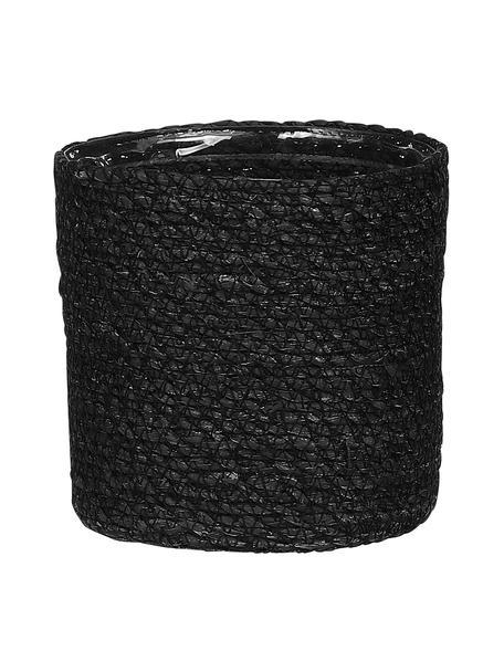 Macetero Atlantic, con bolsa de plástico, Yute, Negro, Ø 14 x Al 14 cm