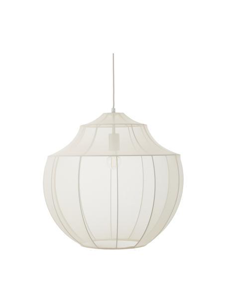 Lámpara de techo Beau, Anclaje: metal con pintura en polv, Pantalla: tela, Cable: cubierto en tela, Crema, Ø 55 x Al 52 cm