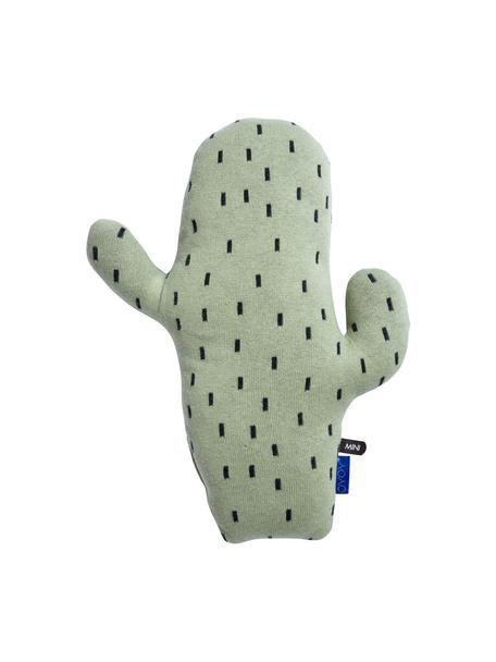 Cojín peluche Cactus, Algodón, Verde, negro, An 28 x Al 38 cm