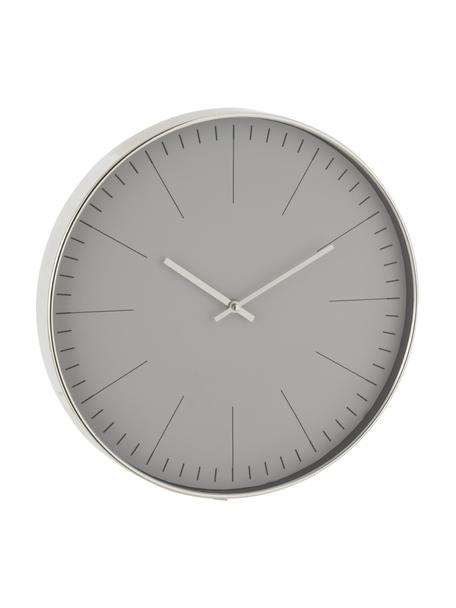 Reloj de pared Silvester, Plástico, Plateado, Ø 40 cm
