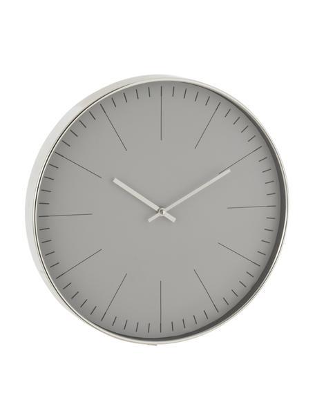 Wanduhr Silvester, Kunststoff, Silberfarben, Ø 40 cm