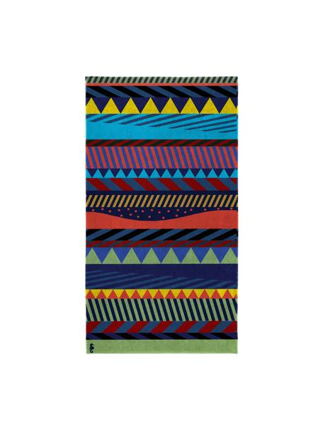 Telo mare fantasia Capetown, 100% cotone egiziano Qualità del tessuto di peso medio, 420 g/m², Multicolore, Larg. 100 x Lung. 180 cm