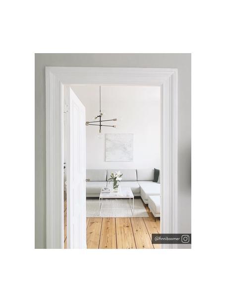 Lámpara de techo Visby, Estructura: metal con pintura en polv, Anclaje: metal con pintura en polv, Cable: cubierto en tela, Negro, Ø 84 cm