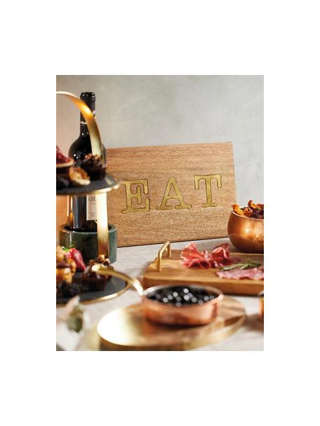 Tagliere in legno di mango Artesa, 38x22 cm, Legno di mango, Legno di mango, dorato, Lung. 38 x Larg. 22 cm