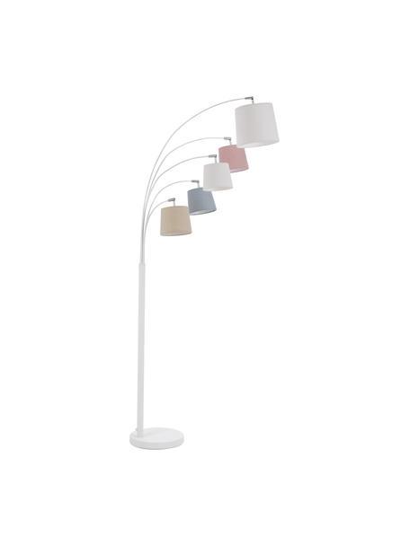 Lámpara de pie Foggy, estilo escandinavo, Pantalla: poliéster, algodón, Cable: plástico, Blanco, gris, rosa, An 80 x Al 200 cm