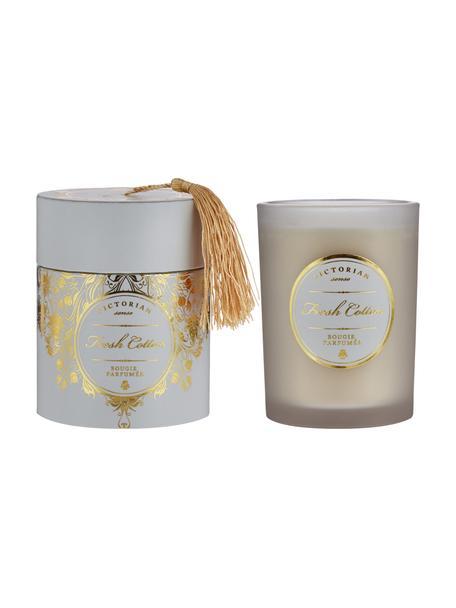 Świeca zapachowa Sense (świeża bawełna), Pojemnik: szary Wosk: biały, Ø 9 x W 11 cm
