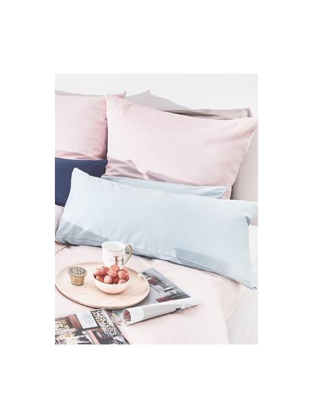 Poszewka na poduszkę z satyny bawełnianej Comfort, 2 szt., Jasny niebieski, S 40 x D 80 cm