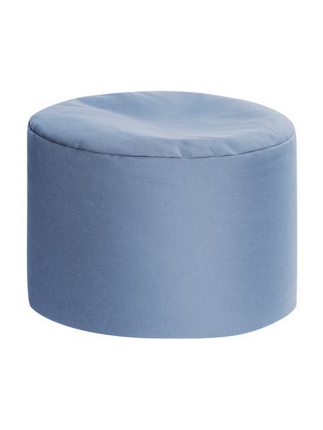 Puf de interior/exterior Dotcom, Tapizado: 100%poliacrílico, fibras, Azul, Ø 60 x Al 40 cm