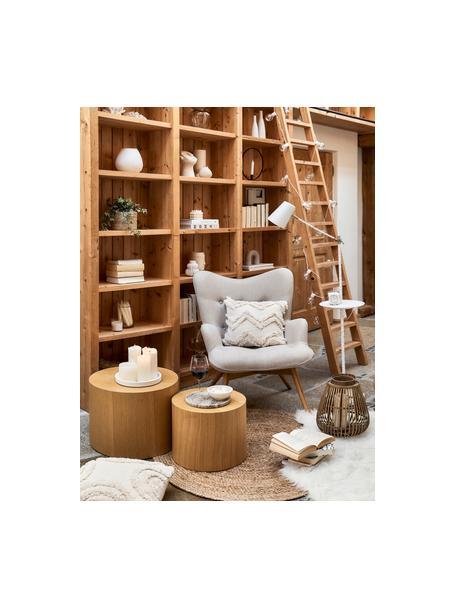 Beistelltisch-Set Dan aus Holz, 2-tlg., Mitteldichte Holzfaserplatte (MDF) mit Eichenholzfurnier, Hellbraun, Sondergrößen