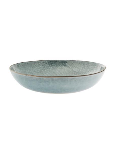 Ręcznie wykonana miska z kamionki Nordic Sea, Kamionka, Odcienie szarego, odcienie niebieskiego, Ø 34 x W 8 cm