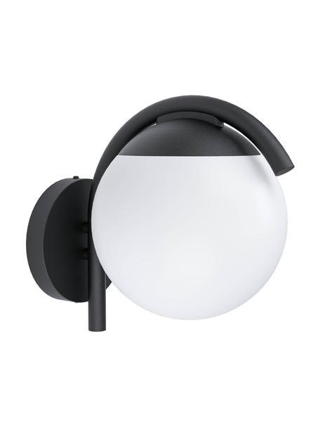 Kinkiet zewnętrzny Prata, Czarny, biały, S 20 x W 26 cm