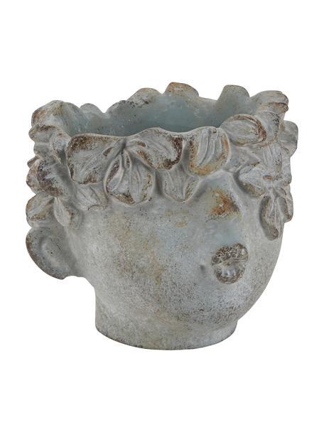 Kleine plantenpot Cecil van keramiek, Keramiek, Grijs, 12 x 10 cm