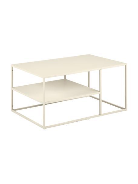 Tavolino da salotto in metallo beige Newton, Metallo verniciato a polvere, Beige, Larg. 90 x Alt. 45 cm