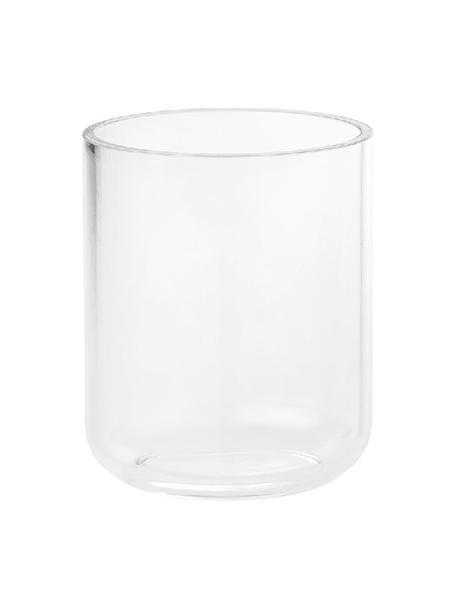 Porta spazzolini in vetro acrilico Delan, Vetro acrilico, Trasparente, Ø 9 x Alt. 12 cm
