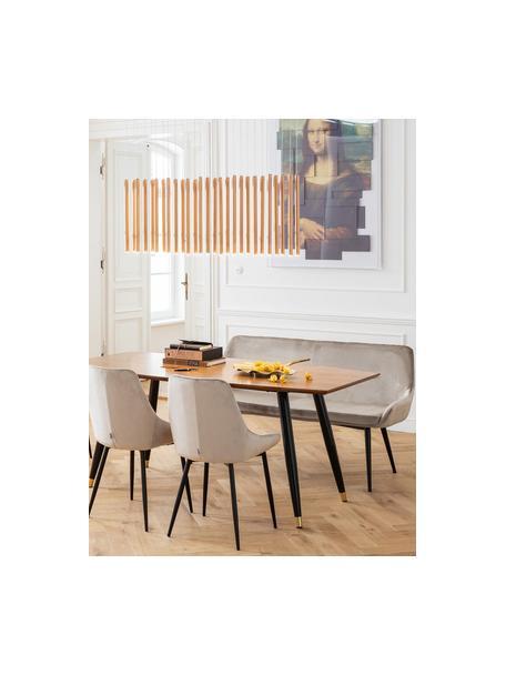 Fluwelen bank East Side, Bekleding: polyester fluweel, Poten: gepoedercoat metaal, Frame: gefineerd grenenhout, nat, Beige, B 154 x D 65 cm