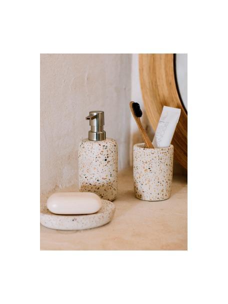 Dispenser sapone Pebble, Terrazzo alla veneziana, Beige, Ø 7 x Alt. 17 cm