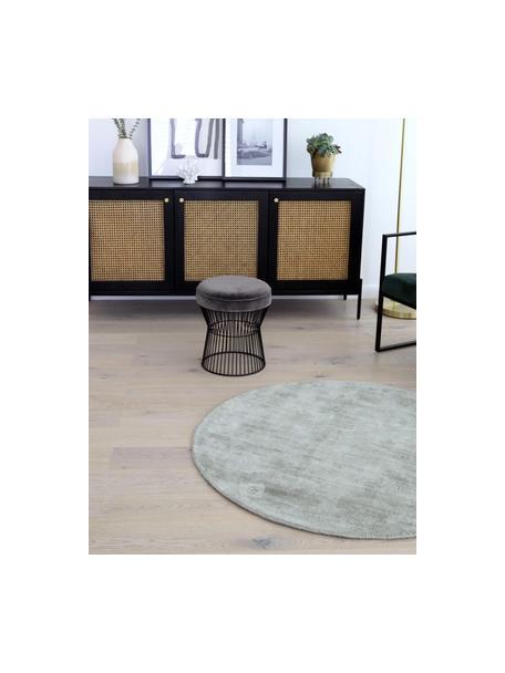 Samt-Hocker Felicity, Bezug: Baumwollsamt, Fuß: Metall, pulverbeschichtet, Bezug: DunkelgrauFuß: Schwarz, matt, Ø 35 x H 40 cm