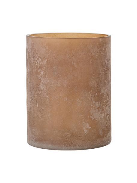 Glazen waxinelichthouder Macha, Glas, Bruin, Ø 12 x H 15 cm