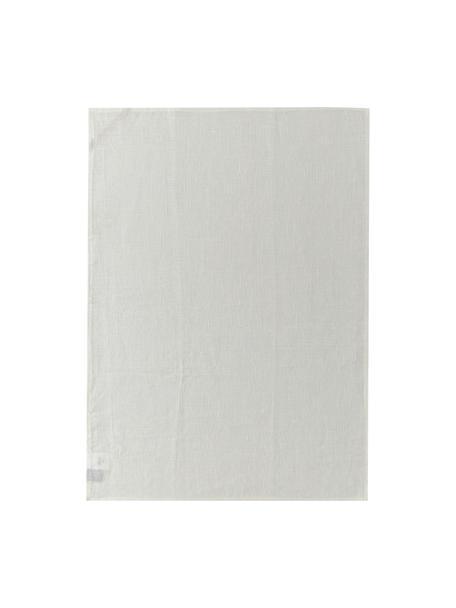 Linnen theedoek Heddie in wit, 100% linnen, Wit, 50 x 70 cm