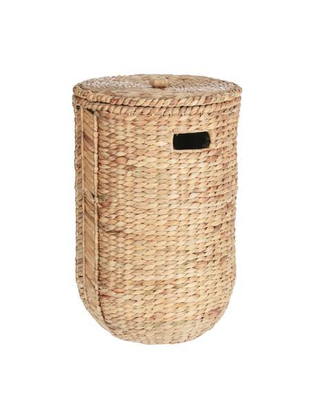 Cesto portaoggetti fatto a mano in giacinto d'acqua Zaya, Giacinto d'acqua, Marrone, Ø 35 x Alt. 80 cm