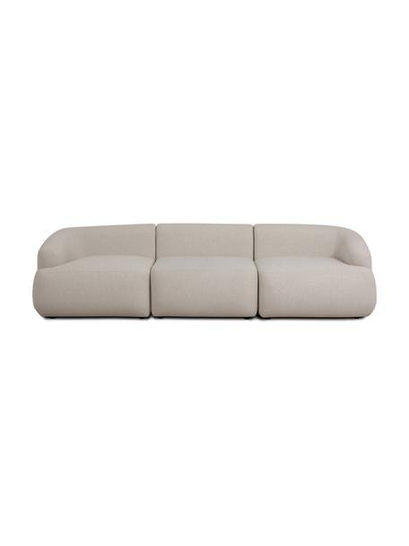 Sofa modułowa Sofia (3-osobowa), Tapicerka: 100% polipropylen Dzięki , Stelaż: lite drewno sosnowe, płyt, Nogi: tworzywo sztuczne, Beżowy, S 278 x G 95 cm