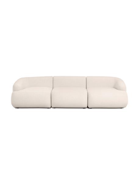 Modulares Sofa Sofia (3-Sitzer) in Beige, Bezug: 100% Polypropylen Der hoc, Gestell: Massives Kiefernholz, Spa, Füße: Kunststoff, Webstoff Beige, B 278 x T 95 cm