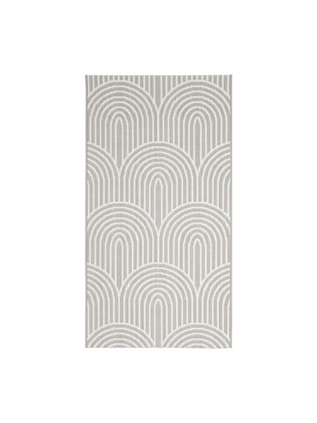 In- & outdoor vloerkleed Arches in grijs/crèmewit, 86% polypropyleen, 14% polyester, Grijs, wit, B 80 x L 150 cm (maat XS)