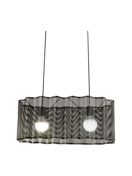 Ovale Pendelleuchte Glicine in Schwarz, Lampenschirm: Metall, beschichtet, Baldachin: Metall, beschichtet, schwarz, 70 x 28 cm