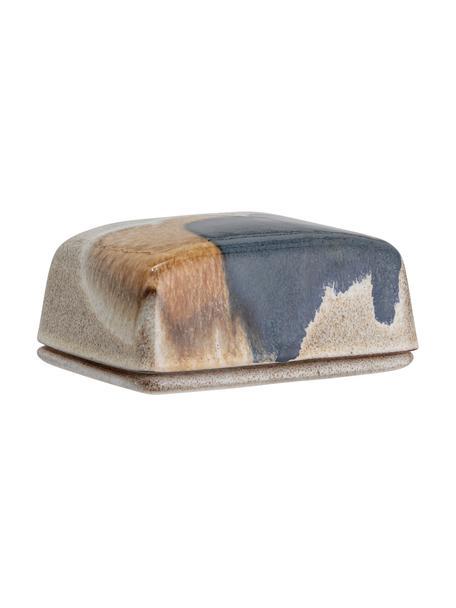 Burriera in gres fatta a mano con gradiente Jules, Gres, Tonalità beige e marroni, nero, Larg. 14 x Alt. 6 cm