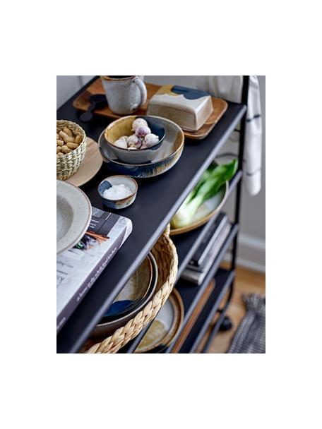 Ręcznie wykonana maselniczka z kamionki Jules, Kamionka, Odcienie beżowego, odcienie brązowego, czarny, S 14 x W 6 cm