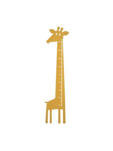 Messlatte Giraffe, Metall, pulverbeschichtet, Gelb, 28 x 115 cm