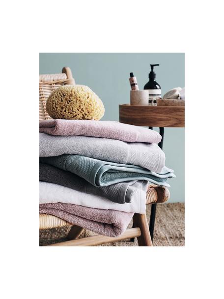 Handdoekenset Premium met klassiek sierborduursel, 3-delig, Wit, Set met verschillende formaten