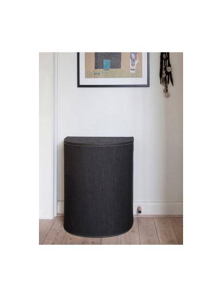 Portabiancheria Sascha, Fibre di carta riciclata, trattate con fermezza, Nero, Larg. 48 x Alt. 57 cm