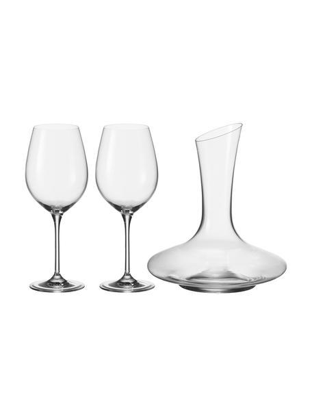 Klassisches Rotwein-Set Barcelona, 3-tlg., Glas, Transparent, Set mit verschiedenen Grössen