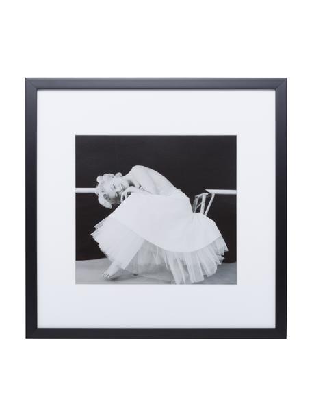 Gerahmter Digitaldruck Dancing Queen, Bild: Digitaldruck, Rahmen: Kunststoff, Front: Glas, Bild: Schwarz, Weiß Rahmen: Schwarz, 40 x 40 cm