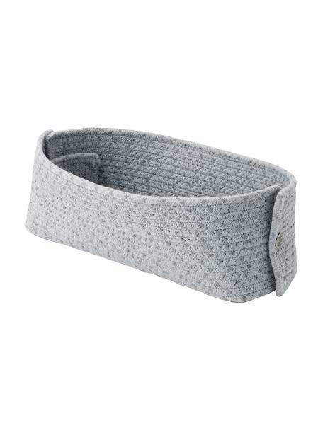 Brotkorb Knit-It aus Baumwolle, Baumwolle, Metall, Grau, B 30 x T 15 cm