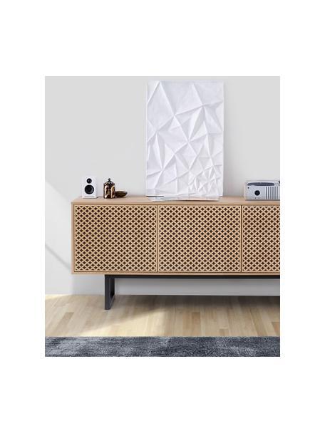 Aparador en roble Camden, Estructura: tablero de fibras de dens, Patas: mdera de abedul pintada, Roble, An 175 x Al 75 cm
