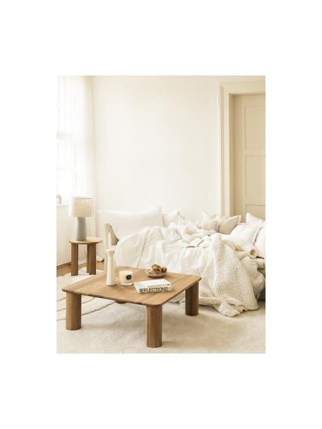 Couchtisch Didi aus Eichenholz, Massives Eichenholz, geölt, Braun, 90 x 35 cm
